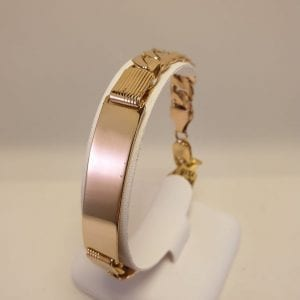 14 karaat gouden heren gourmet plaat armband
