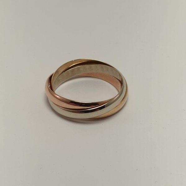 14 Karaat Gouden Tricolor ring