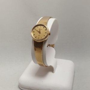 14 karaat gouden dames horloge lesfreres quartz occasion tweede hands juwelier horloge den haaglier den haag