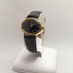 18 karaat gouden bucherer mechanisch dames horloge ocasion tweede hands den haag juwelier