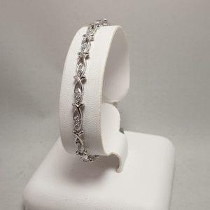 14 karaat briljant armband vintage occasion tweede hands wit goud juwelier den haag