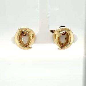 14 karaat gouden oorclip vintage tweedehands occasion juwelier den haag