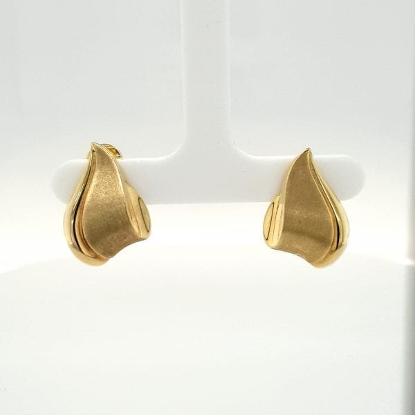 14 karaat gouden clip oorbel sieraad vintage occasion juwelier denhaag
