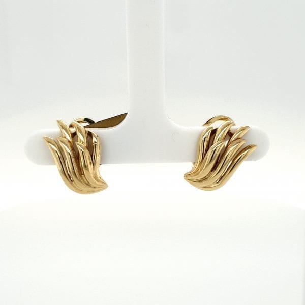 14 karaat gouden clips oorbellen oorsieraad vintage occasion juwelier tweede hands den haag