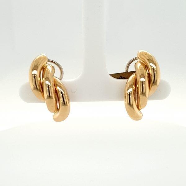 14 karaat cultive parel clips juwelier den haag tweede hands occasion vintage