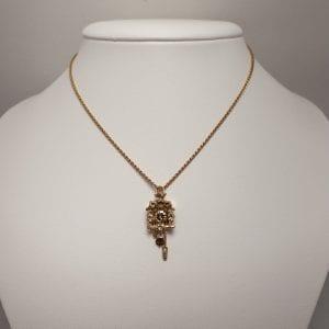 14 karaat gouden hanger koekkoeks klok vintage tweede hands occasion juwelier den haag