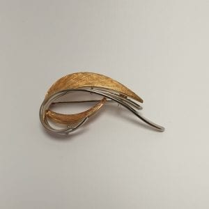14 karaat gouden broche vintage tweedehands occasion juwelier den haag