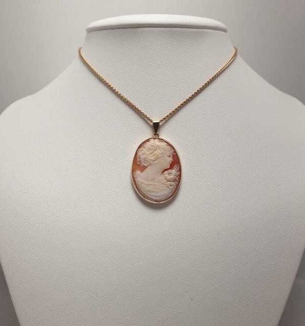 14 karaat gouden camee hanger vintage tweedehands occasion juwelier den haag