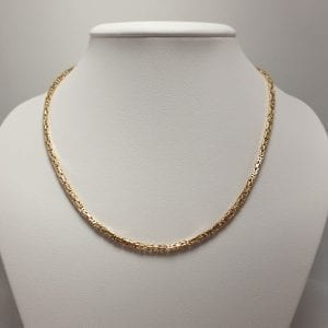 18 karaat gouden koningschakel collier 60 cm vintage tweedehands occasion juwelier vuyk den haag