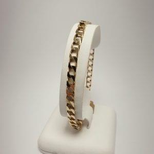 14 karaat geslepen gourmet heren armband vintage tweedehands occasion juwelier den haag