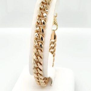 14 karaat gouden gourmet schakel armband massief vintage tweede hands occasion juwelier den haag