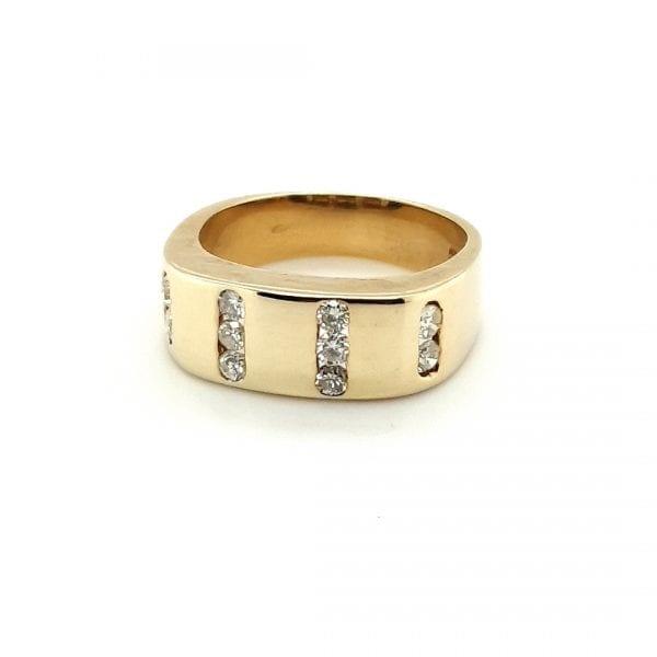 14 karaat dames ring briljant vintage tweedehands occasion juwelier den haag