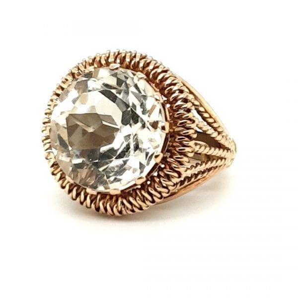 14 karaat berkristal edelsteen vintage tweede hands occasion juwelier den haag
