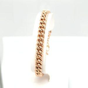 14 karaat bolle gourmet armband vintage tweede hands occasion juwelier den haag