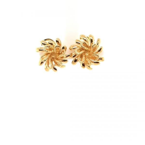 14 karaat gouden vintage oorclipsen ocassion tweede hands juwelier