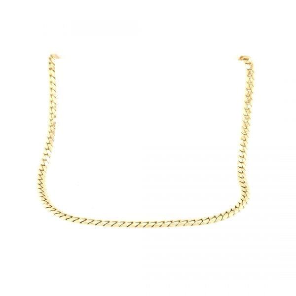 14 karaat gouden collier gourmet schakel vintage tweedehands juwelier den haag ocassion