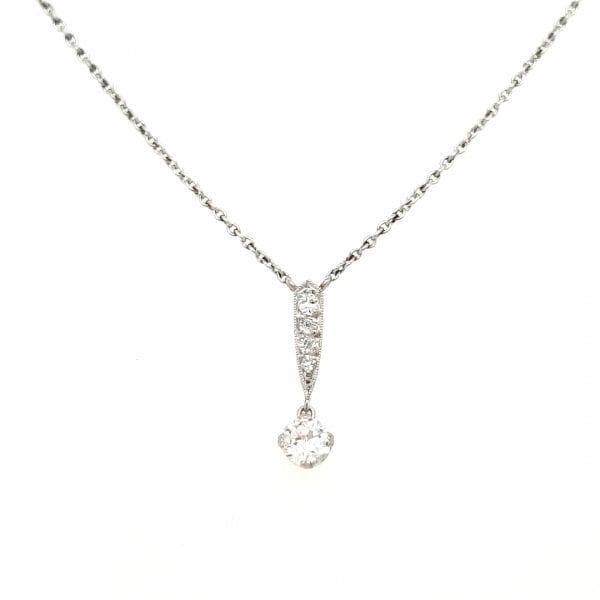 14 karaat wit gouden diamant choker vintage tweede hands occasion juwelier den haag