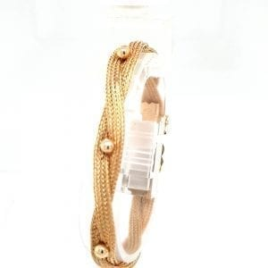 18 karaat geel gouden gevlochten armband occasion vintage juwelier den haag