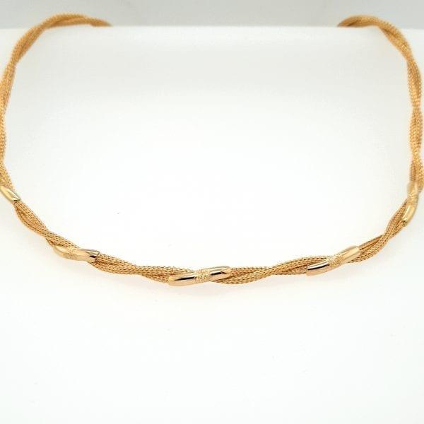 18 Karaat gouden collier choker vintage tweede hands occasion juwelier den haag leidschendam voorburg