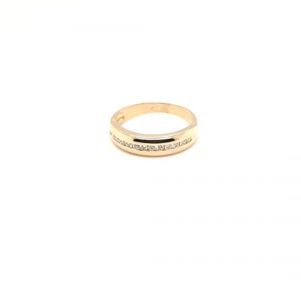 14 karaat gouden briljant diamant ring occasion juwelier den haag