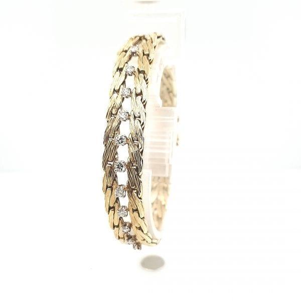 14 karaat gouden briljant armband vintage tweede hands juwelier den haag