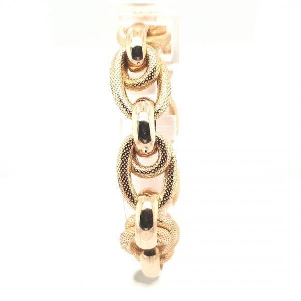 18 karaat gouden armband vintage occasion tweede hands oud goud juwelier den haag voorburg