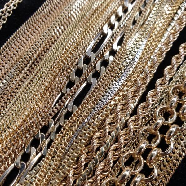 gouden colliers kettingen ketting 14 karaat 18 karaat juwelier goud inkoop oudgoud schakels den haag vintage occasions sieraden voorburg leidschendam