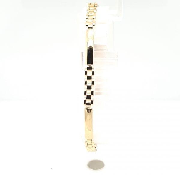 14 karaat gouden schakel armband occasion juwelier den haag vintage tweede hands