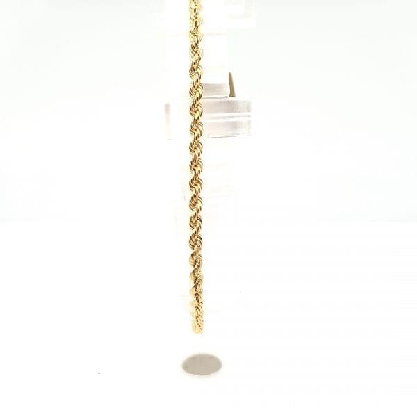 14 karaat gouden koord armband vintage tweede hands juwelier occasion den haag