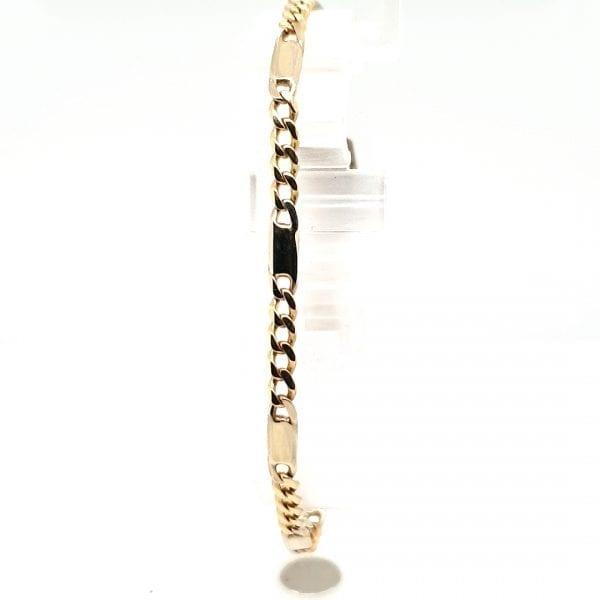 14 karaat gouden schakel armband vintage tweede hands juwelier occasion dn haag