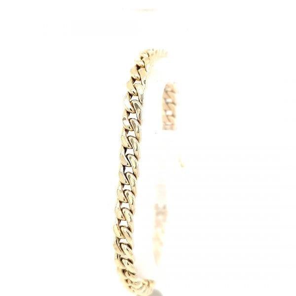 14 karaat gourmet schakel armband vintage tweede hands juwelier den haag