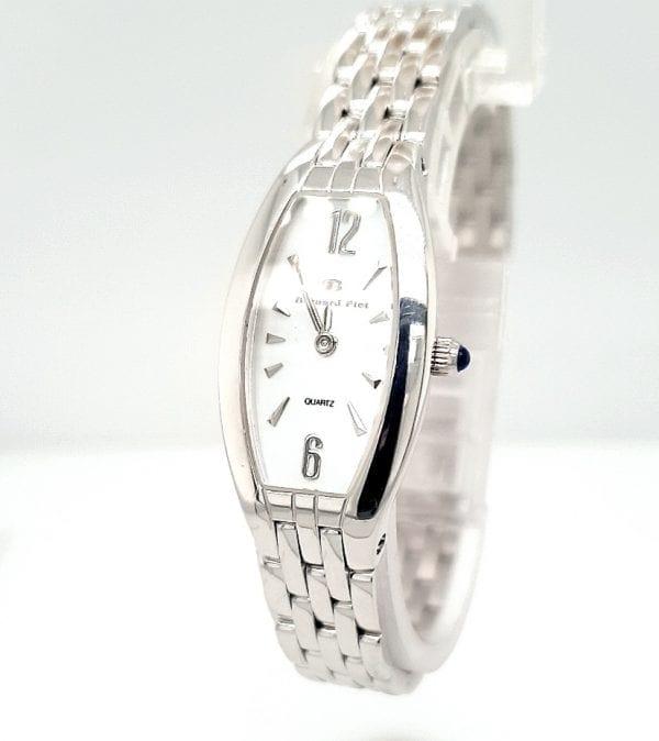 Bernard piot gouden dames horloge occasion 14 karaat tweede hands juwelier den haag parelmoer wijzerplaat