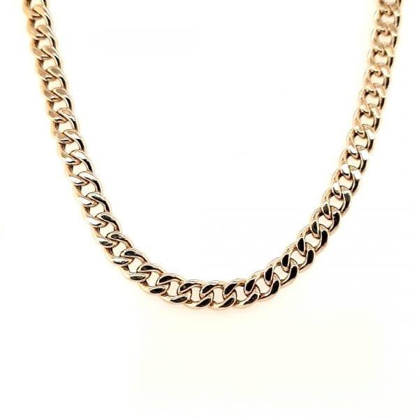 14 karaat gouden gourmet collier 45 cm occasion vintage tweede hands juwelier den haag