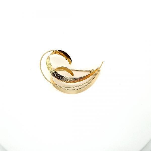 14 karaat gouden broche occasion juwelier den haag