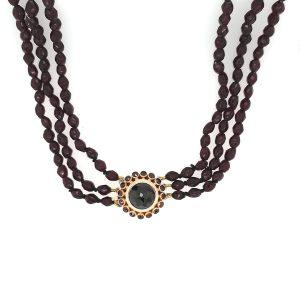 14 karaat granaat 3 rij klederdracht edelsteen occasion juwelier oud goud den haag
