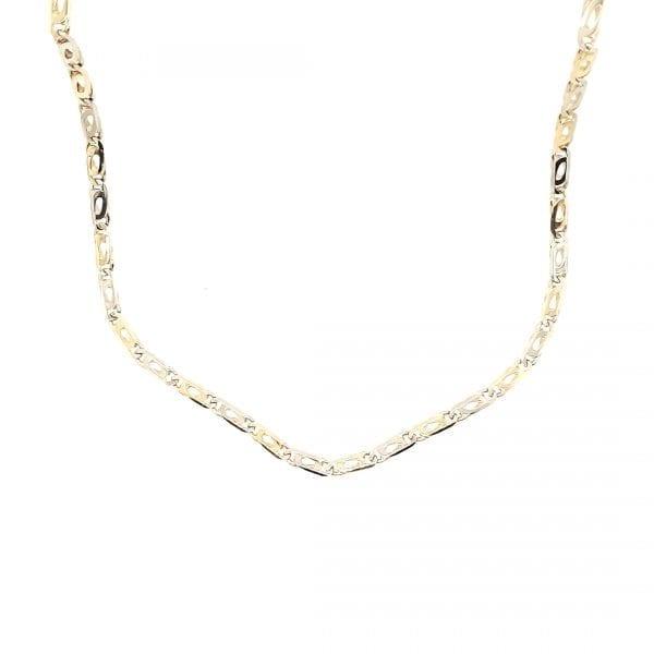 14 karaat bicolor 60 cm collier occasion juwelier den haag