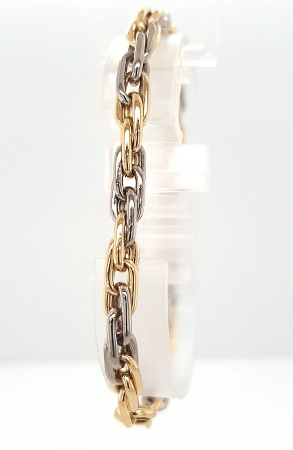 18 karaat twee kleur armband occasion juwelier den haag tweede hands second hand bracelett