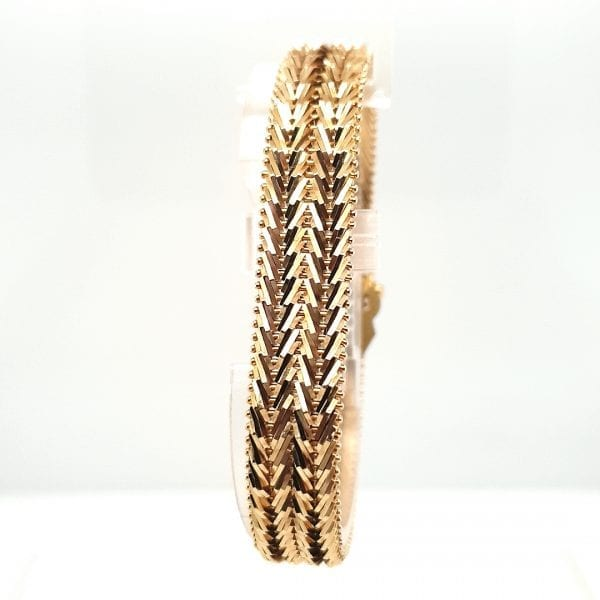 18 karaat geelgouden armband massief zwaar vintage tweede hands occasion juwelier den haag