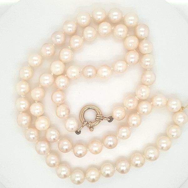 cultive parel snoer met gouden veerring sluiting occasion tweede hands den haag juwelier