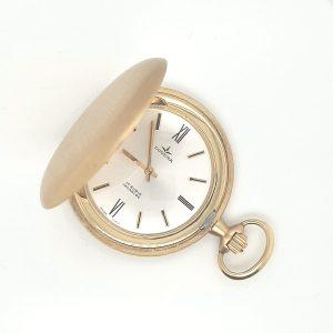 dugena 14 karaat gouden zakhorloge savonette den haag occasion tweede hands mechanisch uurwerk
