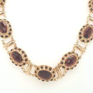 14 karaat granaat collier klederdracht Scheveningen occasion juwelier den haag