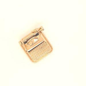 14 Karaat typmachine hanger vintage tweede hands juwelier den haag vintage