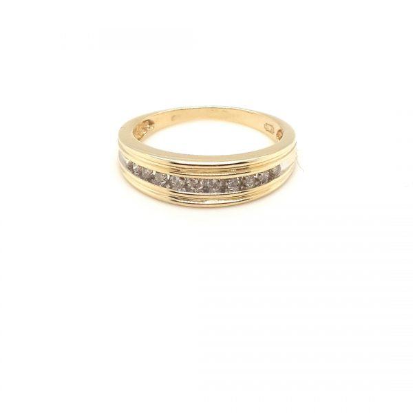 14 karaat briljant ring vintage occasion juwelier den haag