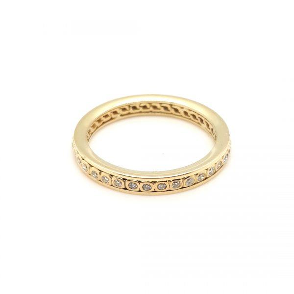 14 karaat geel gouden alliance ring occasion vintage tweede hands juwelier den haag