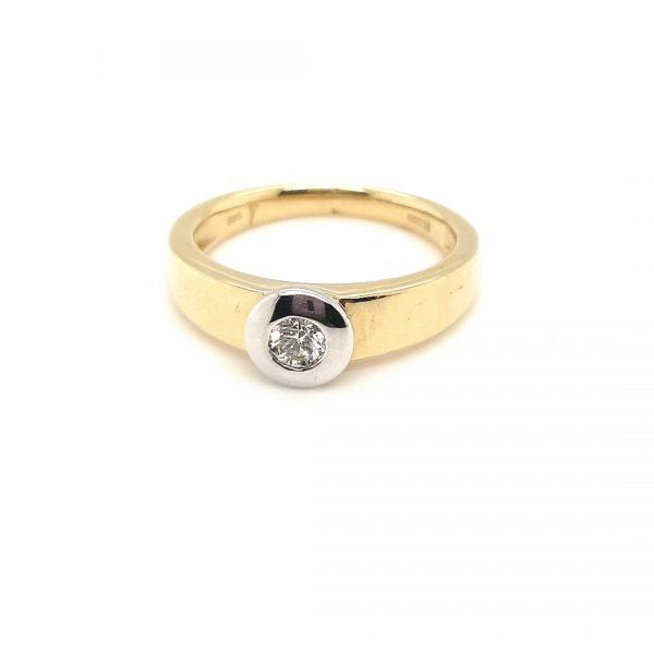 14 karaat gouden briljant ring juwelier den haag