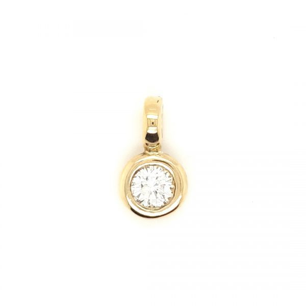 14 karaat briljant 0.80 crt hanger occasion juwelier den haag