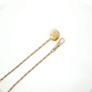 14 karaat gouden horloge ketting savonette ketting occasion juwelier den haag