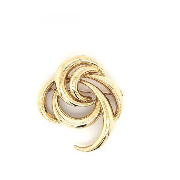 14 karaat broche geelgoud vintage twede hands juwelier den haag occasion