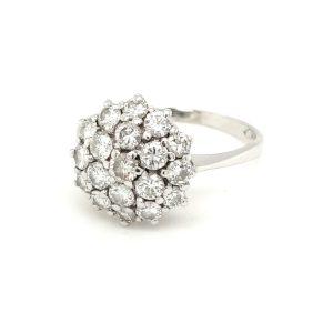 14 karaat entourage ring briljant occasion juwelier den haag